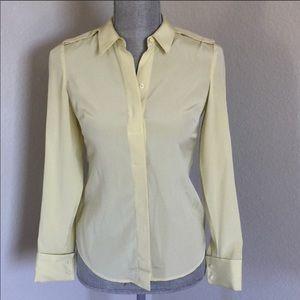 Ann Taylor Silk Petite Button Down Shirt Size 00P